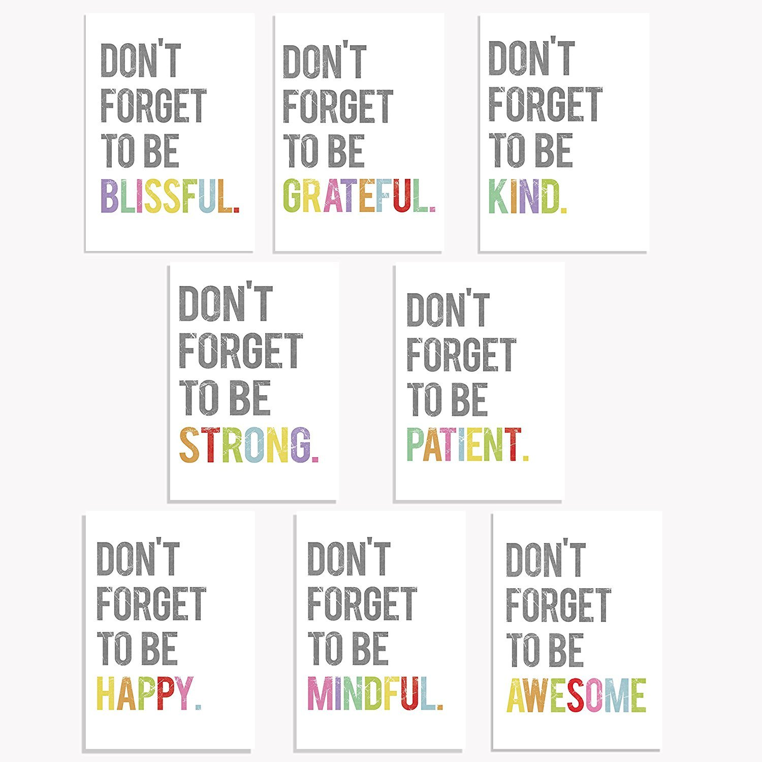 Don't Forget Mini Collection 5x7 Wall Art Prints, Typography, Kid's Wall Art Print, Kid's Room Decor, Gender Neutral, Motivational Word Art