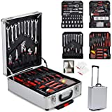 TUFFIOM Tool Box with Tools 799pcs Household Tool Set with Aluminum Trolley Case, Auto Repair Tool Kit Toolbox and…