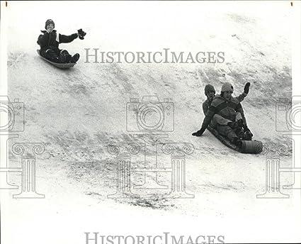 Amazoncom Vintage Photos 1980 Press Photo Sledders At