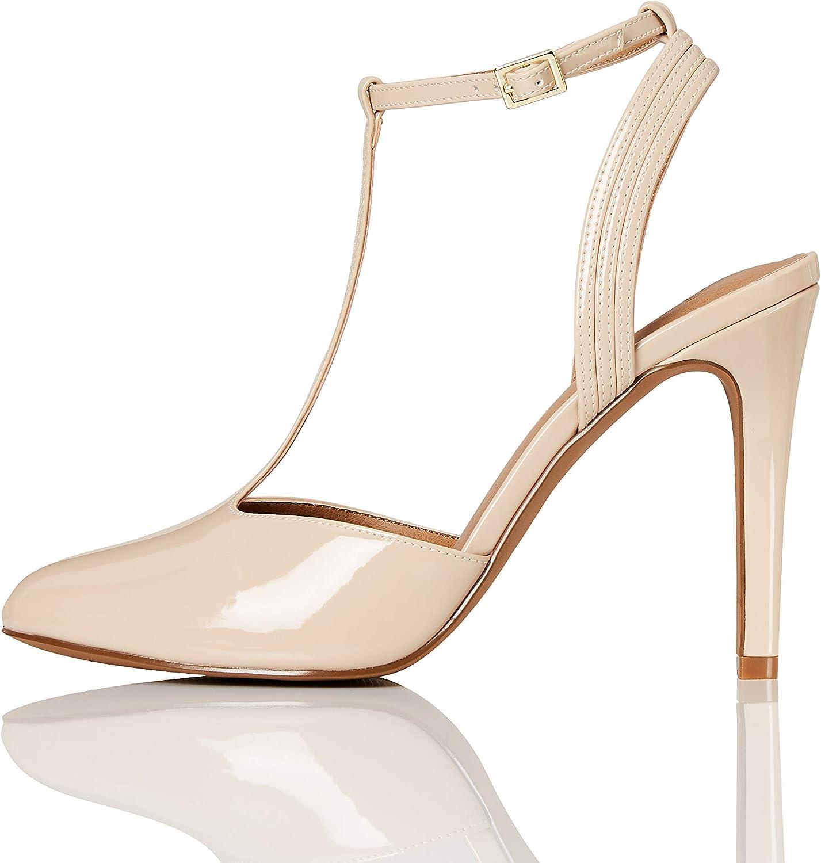 Marca Amazon - find. T-bar Zapatos de Tacón Mujer