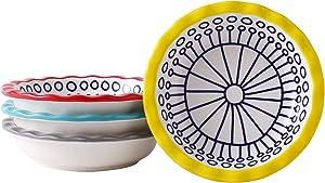 Mini Pie Pan Ceramic Pie Dish Set of 4 Individual Pie Plate Round Pie Tins with Ruffled Edge Tart Pans for Baking