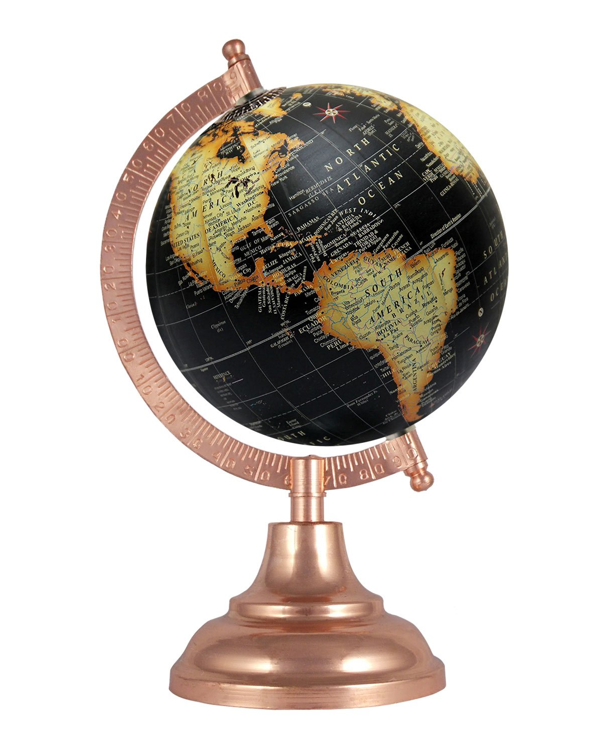 5 Inches Diameter Black World Geographical Vintage Earth Table Top Antique Gift Office Home Decor Globe Educational