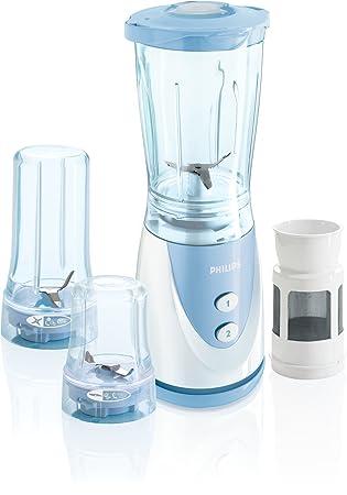 Philips HR2870/00 Batidora de vaso 0.75L 250W Azul, Color blanco - Licuadora