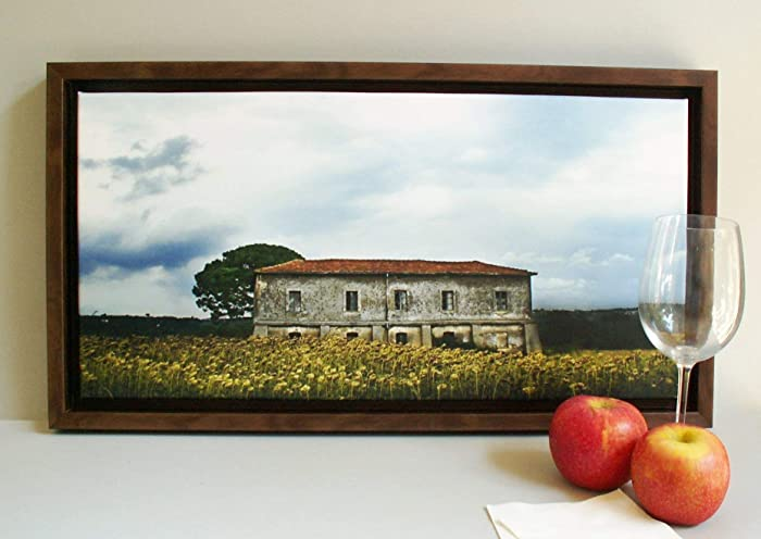 Il casale del lago quadro con cornice: amazon.it: handmade