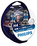Philips Racing Vision H4 Headlight Bulb, 12 Volt - Set of 2