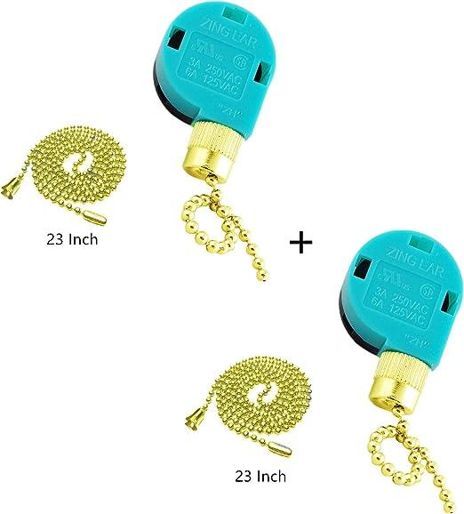 Interruptor de ventilador de techo Zing Ear Pull Chain Switch ZE ...