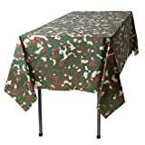 Camouflage 6 Pack Premium Disposable Plastic Tablecloth 54 Inch. x 108 Inch. Rectangle Table Cover By Grandipity