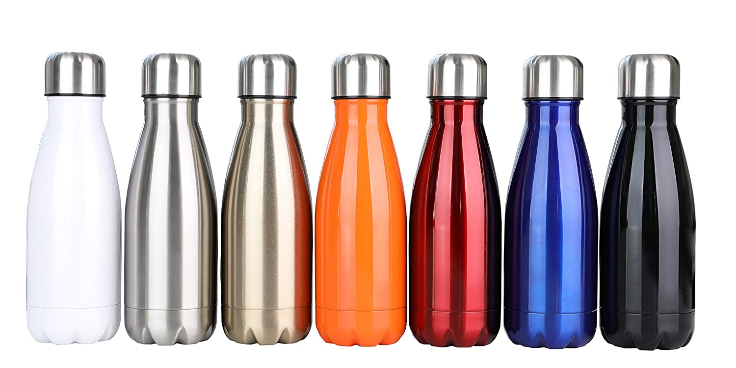 DKASA Stainless Steel Vacuum Insulated Water Bottle,Cola Shaped,Business Convenience,Perfect for Outdoor Sports Camping Hiking Cycling Keeps Your Drink Hot /& Cold,Small Size,9oz Black