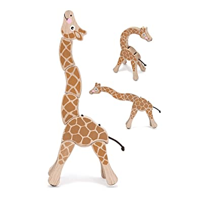 Melissa & Doug Giraffe Wooden Grasping Toy for Baby: Melissa & Doug: Toys & Games