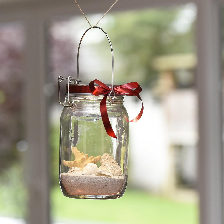 einmachglas lampe free selbst gemacht aus einmachglas mit seil kche lampe dekoriert diy with. Black Bedroom Furniture Sets. Home Design Ideas