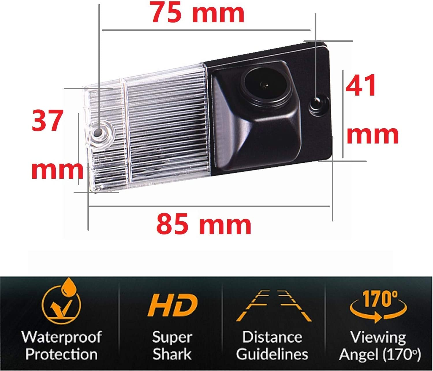Reversing Camera Integrated in Number Plate Light License Rear View Backup Camera Waterproof Night Vision for KIA Sportage 2004-2010 Sorento 2002-2009 Misayaee