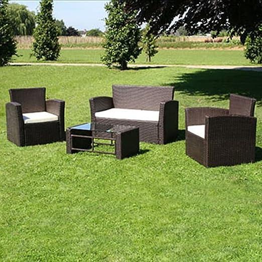 Tidyard Conjunto Muebles de Jardín de Ratán 8 Piezas Sofas Jardin ...