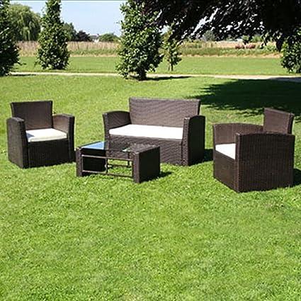Tidyard Conjunto Muebles de Jardín de Ratán 8 Piezas Sofas ...