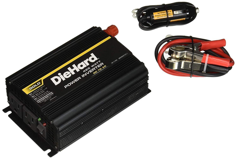 HD DieHard Power Inverter 850 Peak Watts 425 Continuous Watts 2 AC Outlets