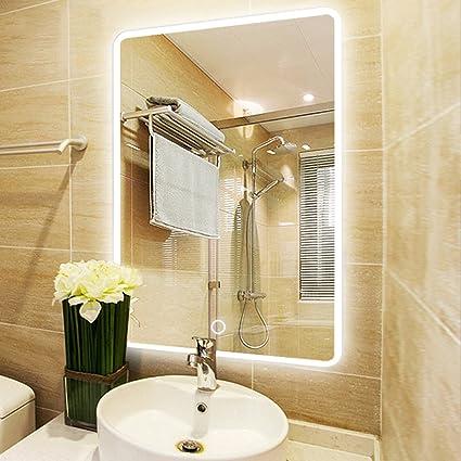 NEUTYPE 31u0026quot; X 23u0026quot; Backlit Mirror Bathroom Sink Mirror Horizontal  And Vertical Wall