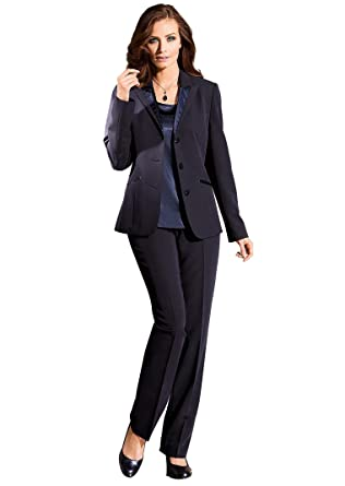 a54a2e4f7881 Atelier Goldner Schnitt - Festlicher Damen-Hosen-Anzug mit Blazer, Top und  Hose