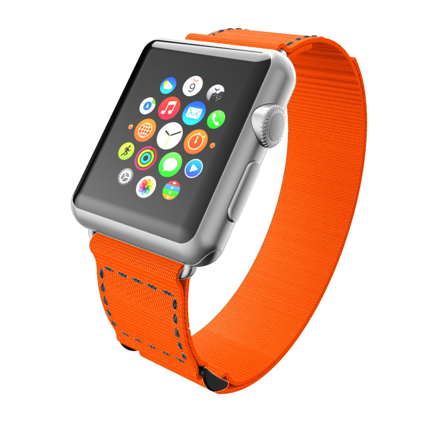 Incipio Smartwatch Replacement Band for Apple Watch 42mm - Orange/Gray Stitching