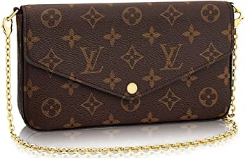 8bbf4fadb0a1 Louis Vuitton Monogram Canvas Pochette Felicie Wallets Handbag Clutch  Article M61276