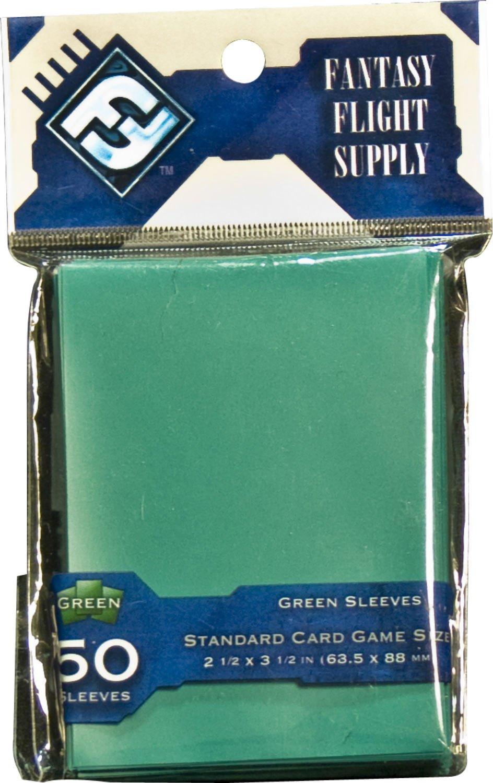Fantasy Flight Supply, Green Sleeves: Standard Card Game Size 2 1/2 x 3 1/2