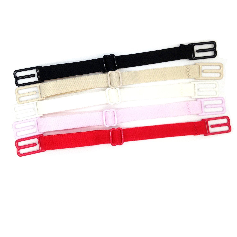 5 pcs Women's Non-slip Elastic Bra Strap Holder
