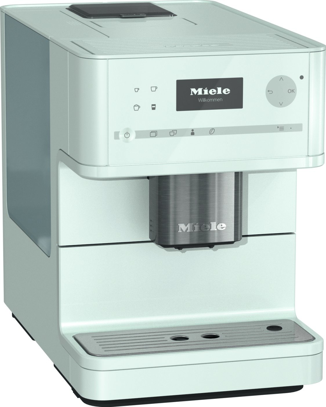 Miele CM6150 Lotus White Countertop Coffee Machine (Renewed) (Lotus White) by Miele