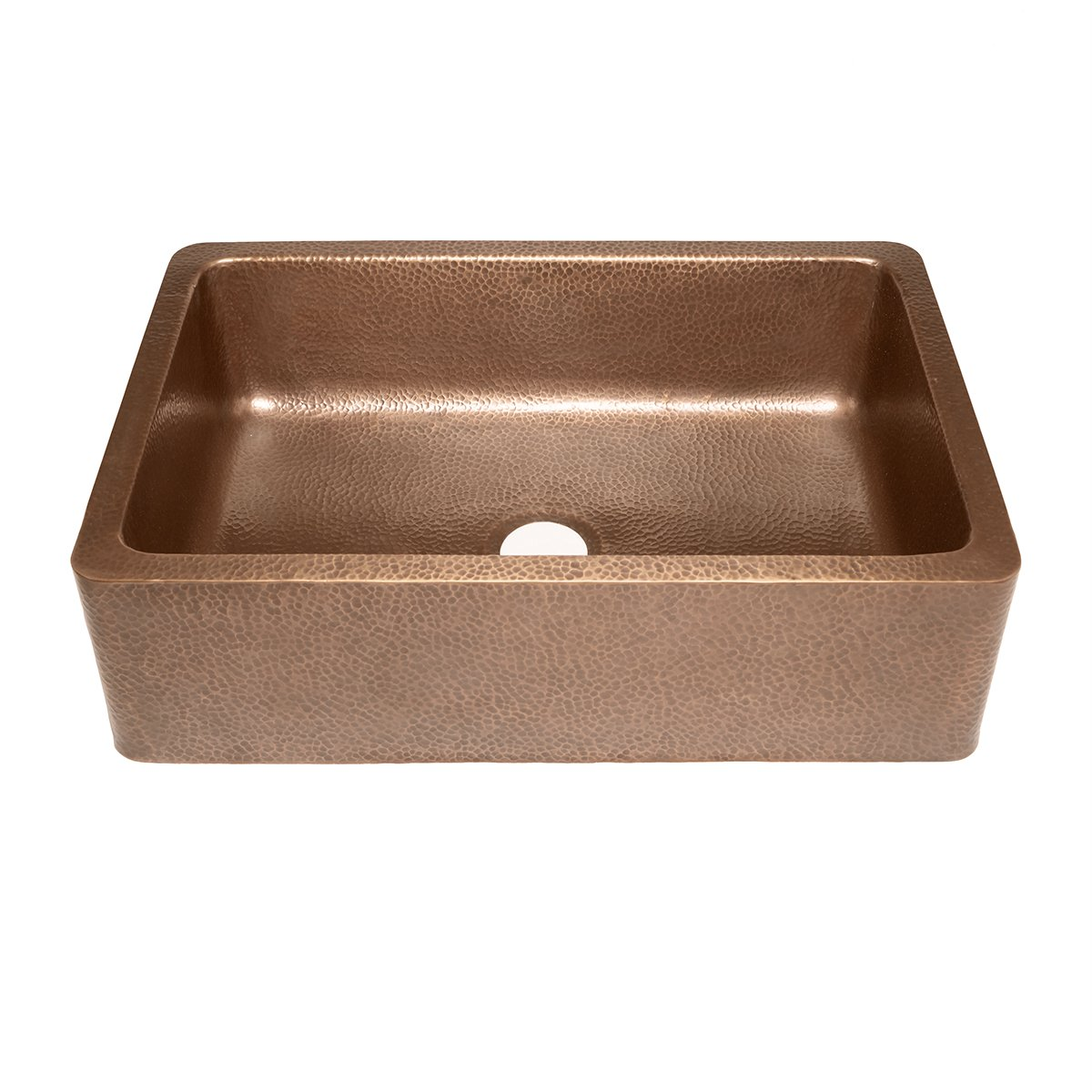 adams farmhouse apron front handmade copper kitchen sink 33 in single bowl in antique copper single bowl sinks amazoncom - Farmhouse Kitchen Sinks