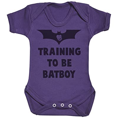 Baby Buddha Training To Be Bat Boy Body bébé - Gilet bébé - Body bébé ensemble-cadeau - 0-3 mois Violet