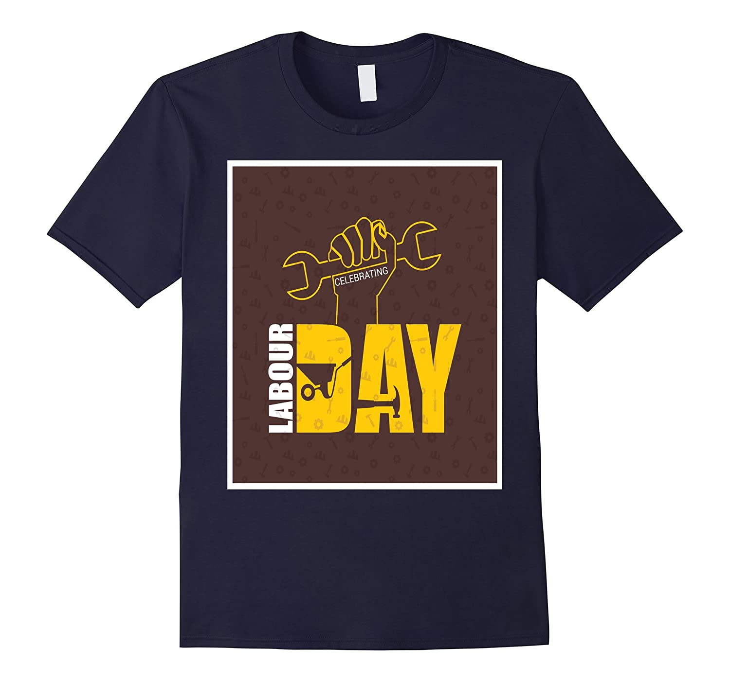 Labour Day with Concrete Hand Trolley T-Shirt-BN