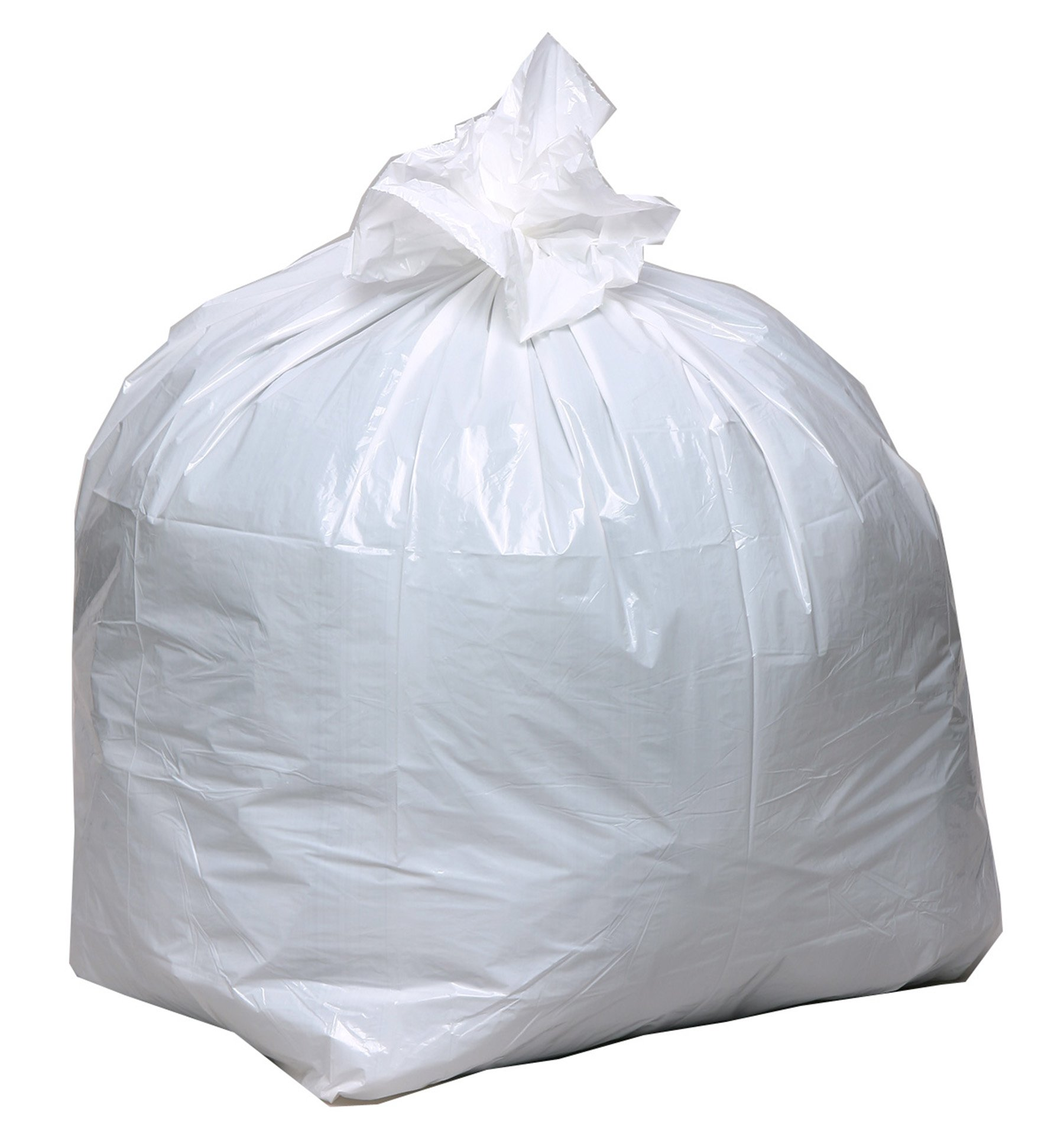 Earthsense Commercial RNW1K150V Recycled Tall Kitchen Bags, 13-16gal, .8mil, 24 x 33, White, 150 Bags per Box