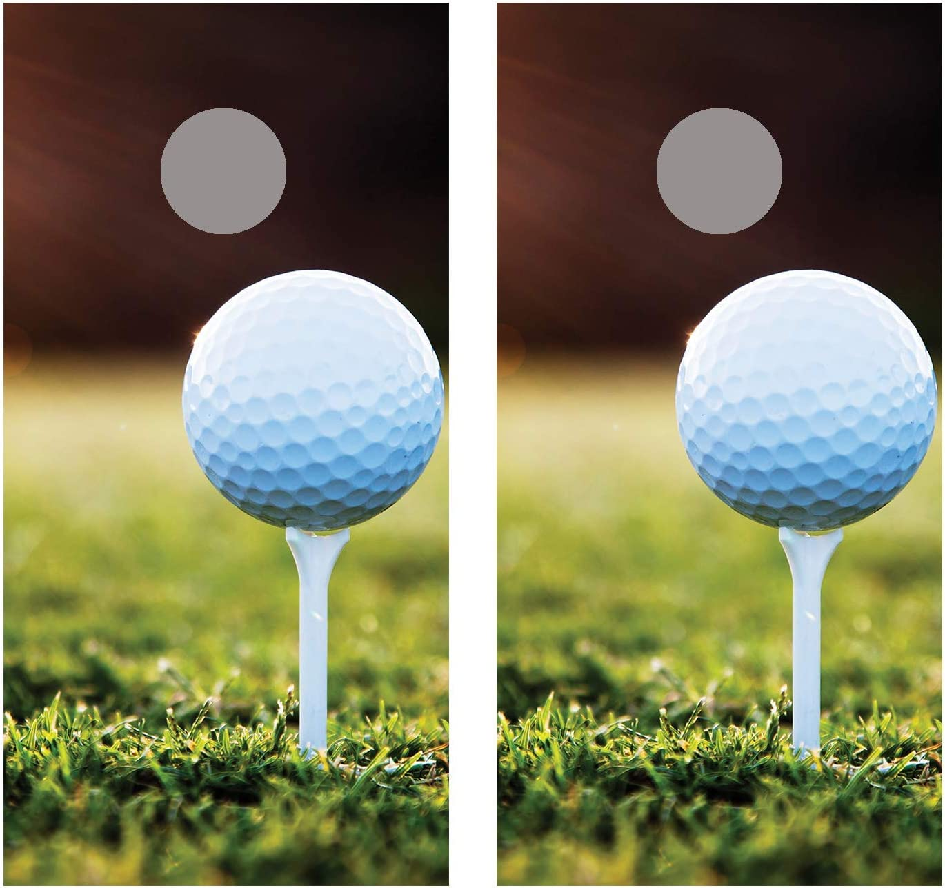 Amazon Com Golf Ball On Tee 2 Cornhole Board Decal Wraps Laminated Sports Outdoors