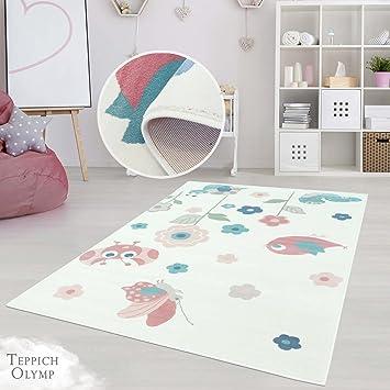 Amazon.de: Teppich Kinderzimmer Mädchen Jungen | Fröhliche ...