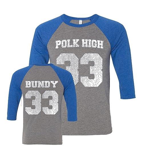 sports shoes d9f9e 363e6 Donkey Tees Polk High Al Bundy Jersey Raglan Shirt Small Gray Royal