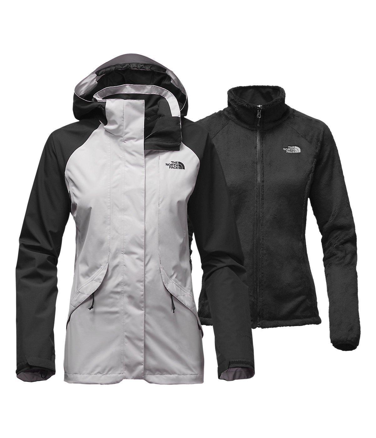 North Face Womens Boundary Triclimate Jacket Large Lunar Ice Grey/TNF Black [並行輸入品] B075CJJ8Z4