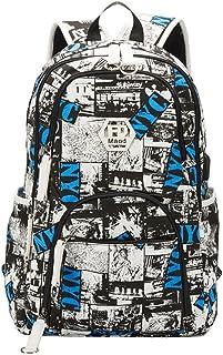 Maod Uomo Zaino Università Grandi Laptop Backpack per 15.6 pollice Graffiti Borsa Scuola Ragazzi Impermeabile Zaini Casual (Azul) Shenzhenshi qiaoningxiangbao youxiagongsi QN-bb-08-1