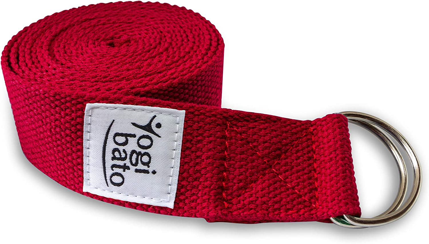 Yogibato Yoga Strap 100/% cotton |240 x 3.8 cm|8 ft x 1.5 in| D-Ring Buckle Belt and Physical Therapy Pilates Band for Stretching Adjustable Yoga Belt
