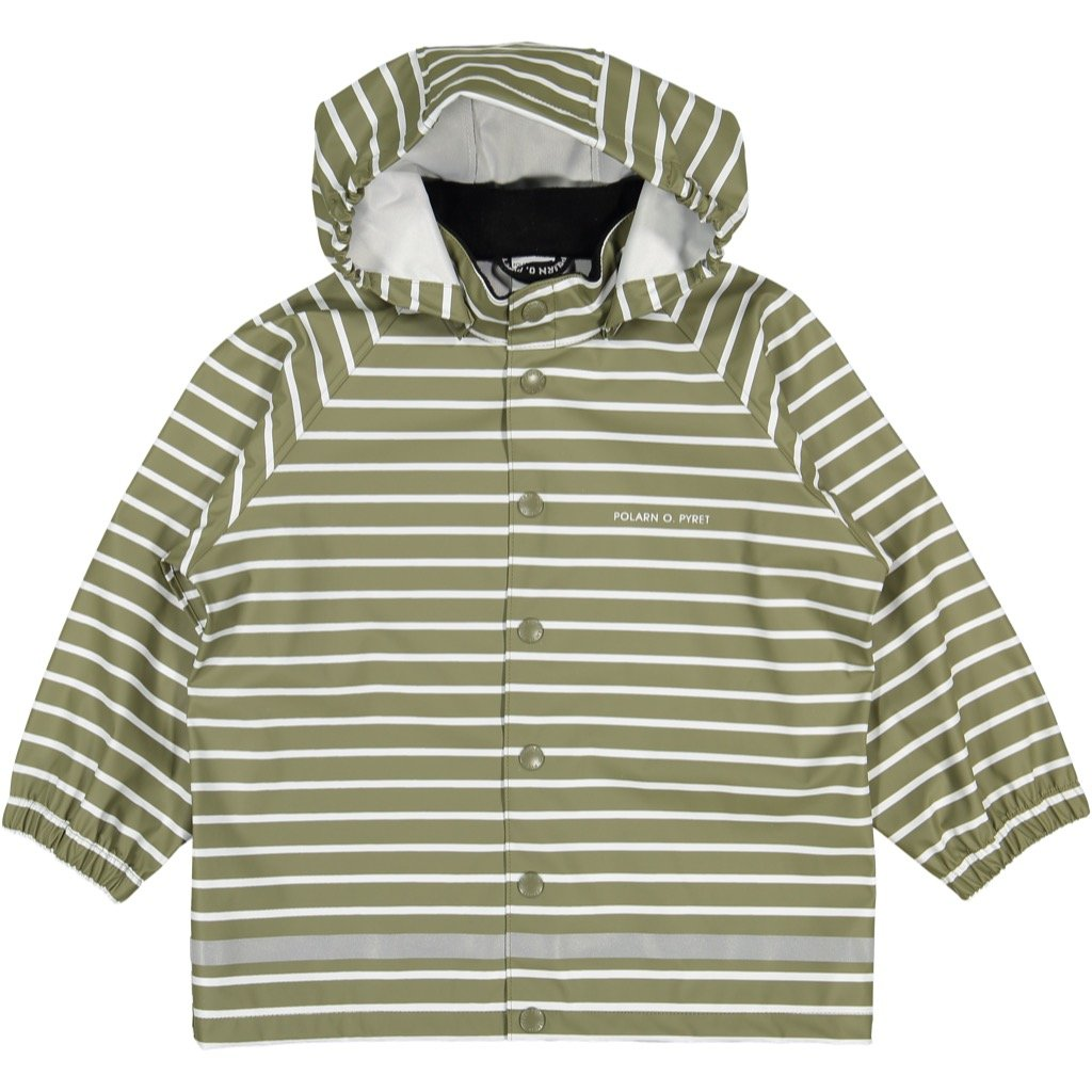 Pyret Waterproof Striped RAIN Jacket Polarn O 1-2YRS