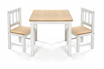 reer 69001 juego de mobiliario para niños - Juegos de mobiliario para niños (Silla, Blanco, Madera, Forma cuadrada, Madera, Interior, 3 año(s)): Amazon.es: ...