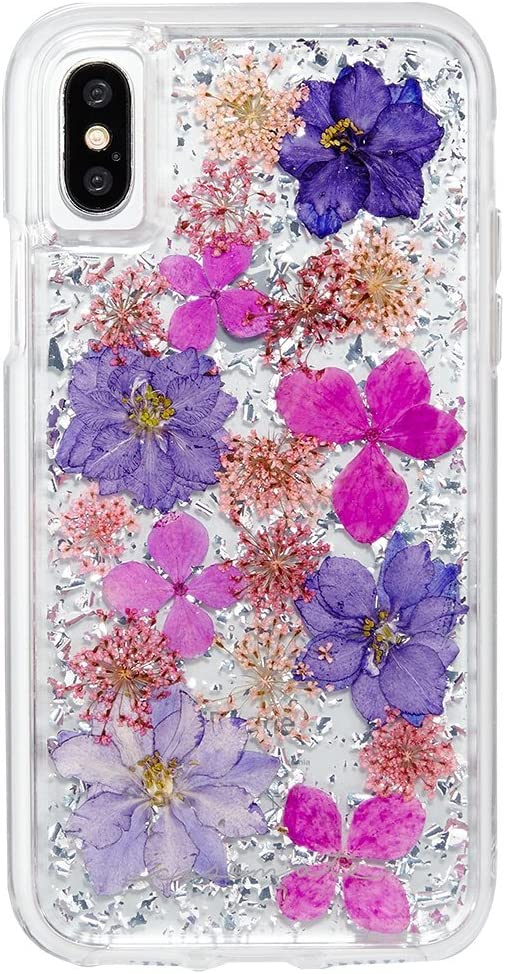 Case-Mate iPhone X Case - KARAT PETALS - Made with Real Flowers - Slim Protective Design - Apple iPhone 10 - Purple Petals