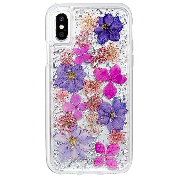 new product 2e51d d27db Case-Mate iPhone X Case - KARAT PETALS - Made with Real Flowers - Slim  Protective Design - Apple iPhone 10 - Purple Petals