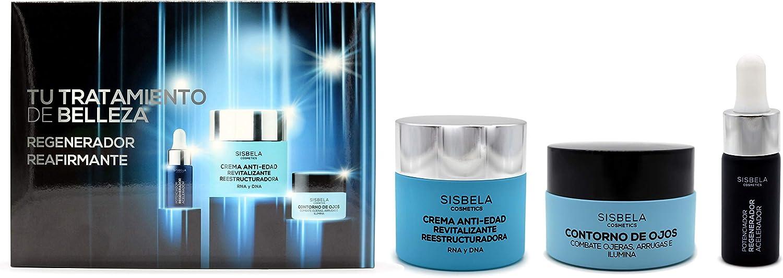 Sisbela Crema Set Regalo con Potenciador Regenerador + Crema Facial Antiedad + Contorno de Ojos: Amazon.es: Belleza