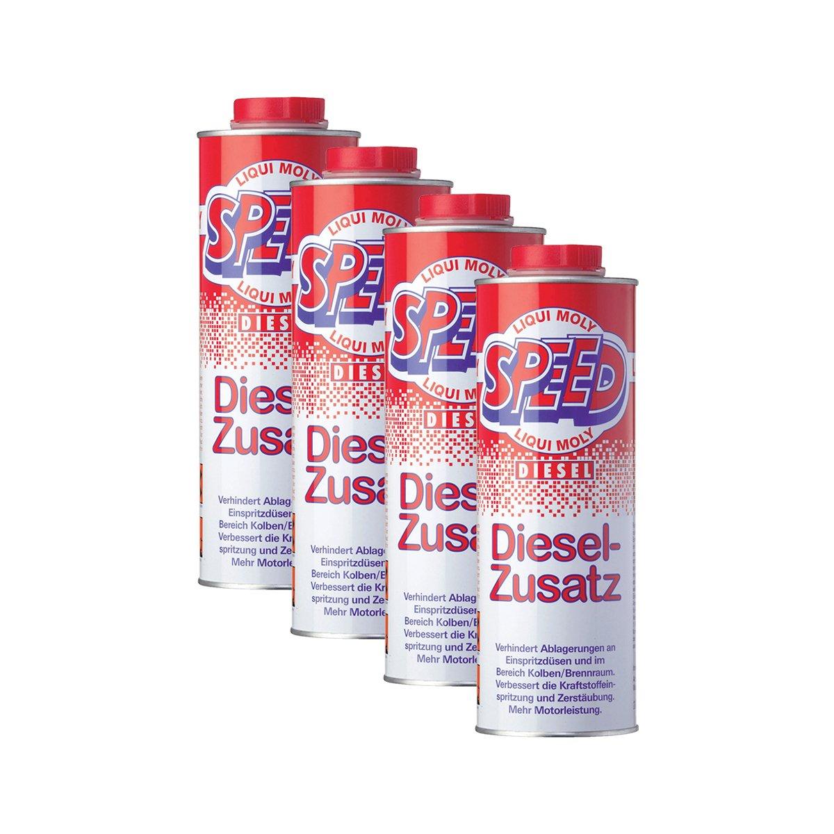 4x LIQUI MOLY 5160 Speed Diesel Zusatz Zugabe Kraftstoff Additiv 1L