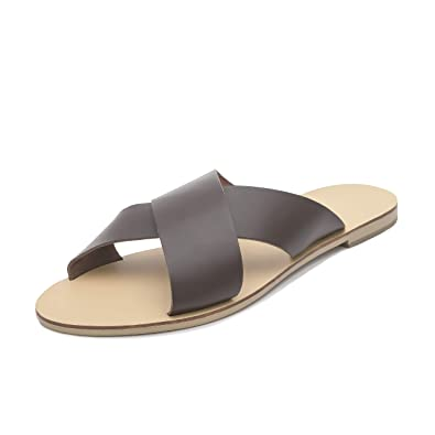 Schmick Athene Damen Sandalen: Sommer Leder Slides flach