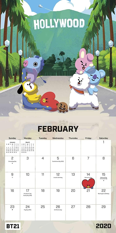 Amazon.com: BTS Bangtan Boys BT21 Calendario de caracteres ...