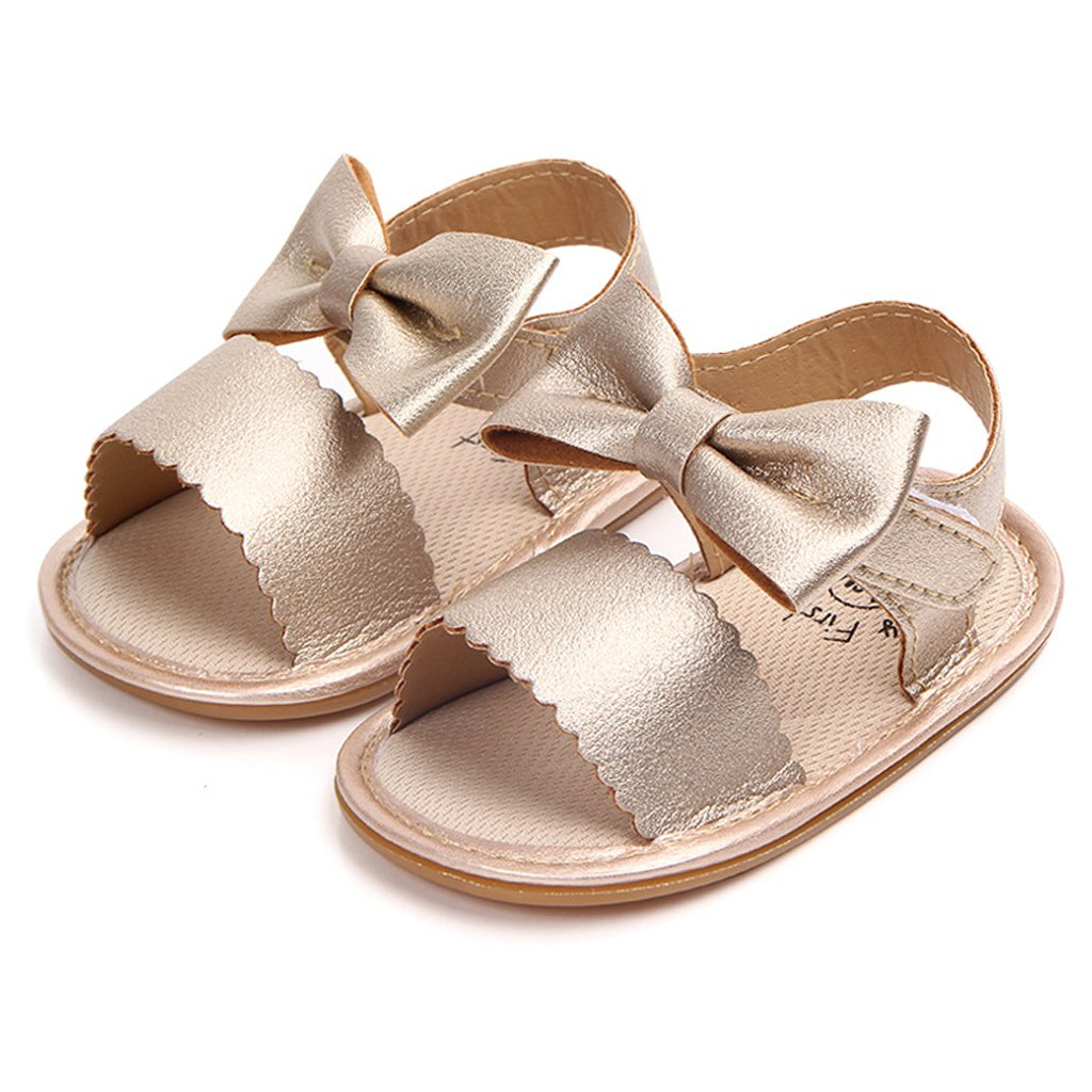 8355c26a63fc Amazon.com  Annnowl Baby Girls Sandals for Summer with Bows  Shoes