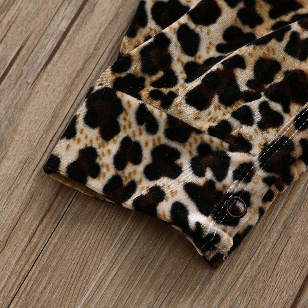 Hevoiok Newborn Infant Toddler Baby Girls Romper Cute Fashion Leopard Print O Neckc Sleeveless Vest Jumpsuit