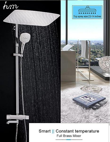 hm Set doccia rubinetto per bagno con rubinetto a pioggia e