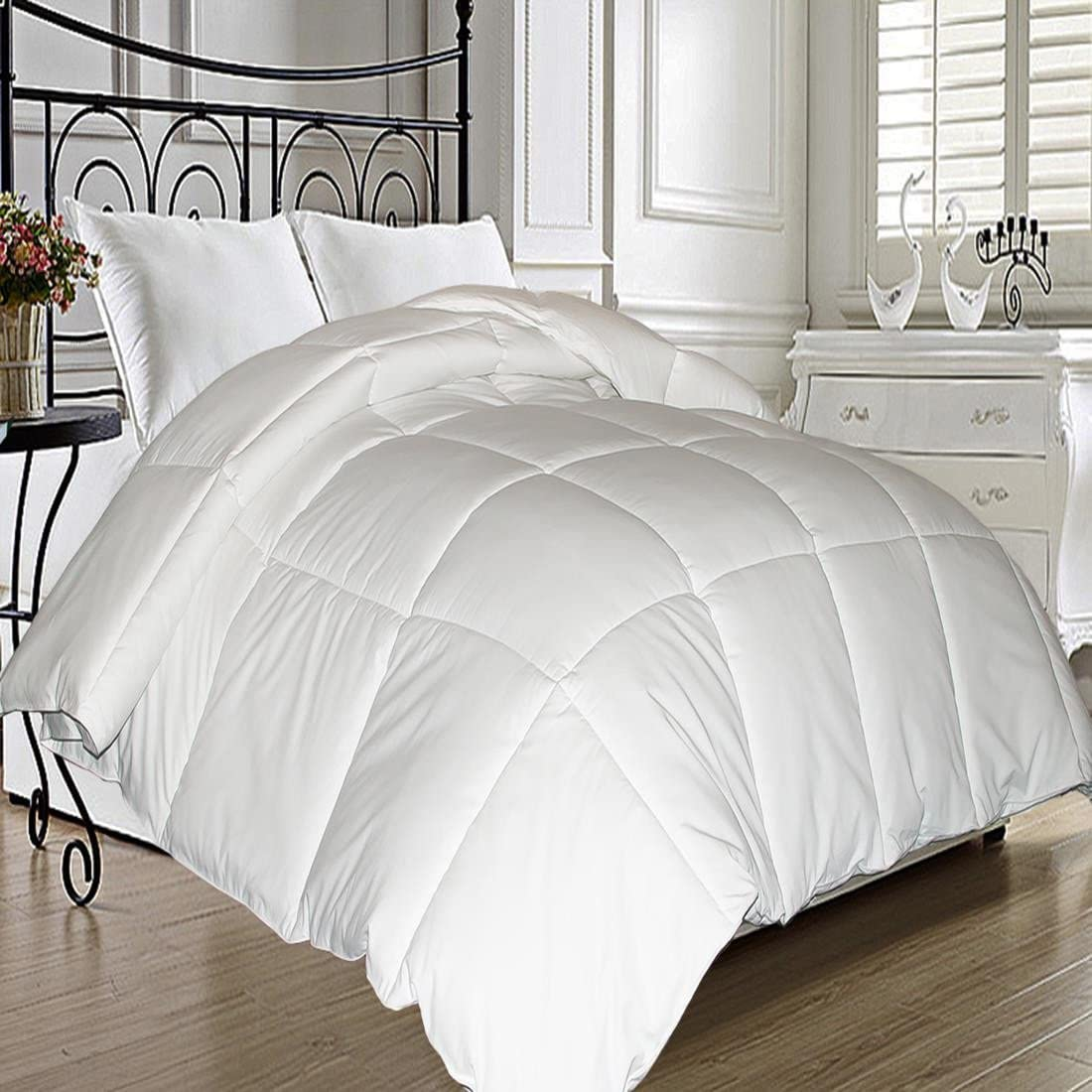 Blue Ridge Home Fashions Microfiber Natural Feather Down Fiber Blend Comforter - King