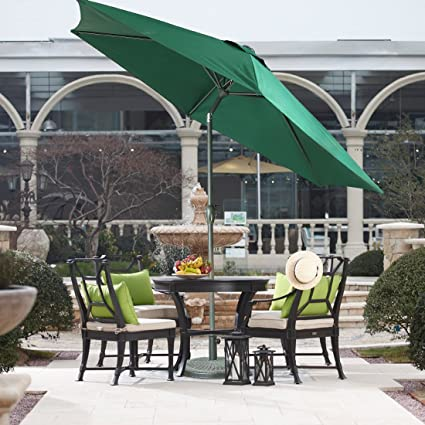 FARLAN Patio Umbrella 9 Ft Outdoor Table Aluminum offset market umbrellas