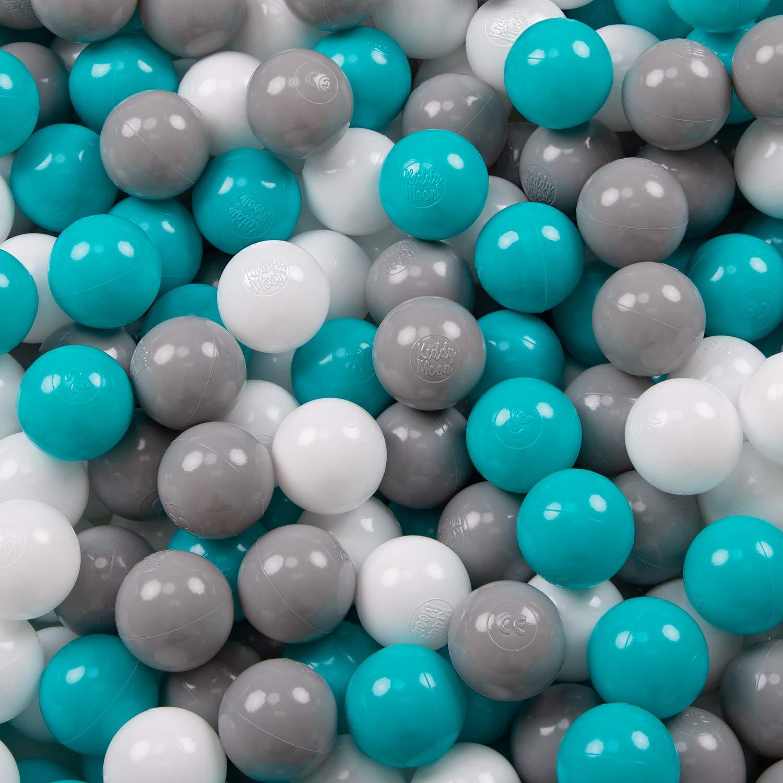 KiddyMoon 100 /∅ 6Cm Kinder B/älle F/ür B/ällebad Spielb/älle Baby Plastikb/älle Made In EU Blau