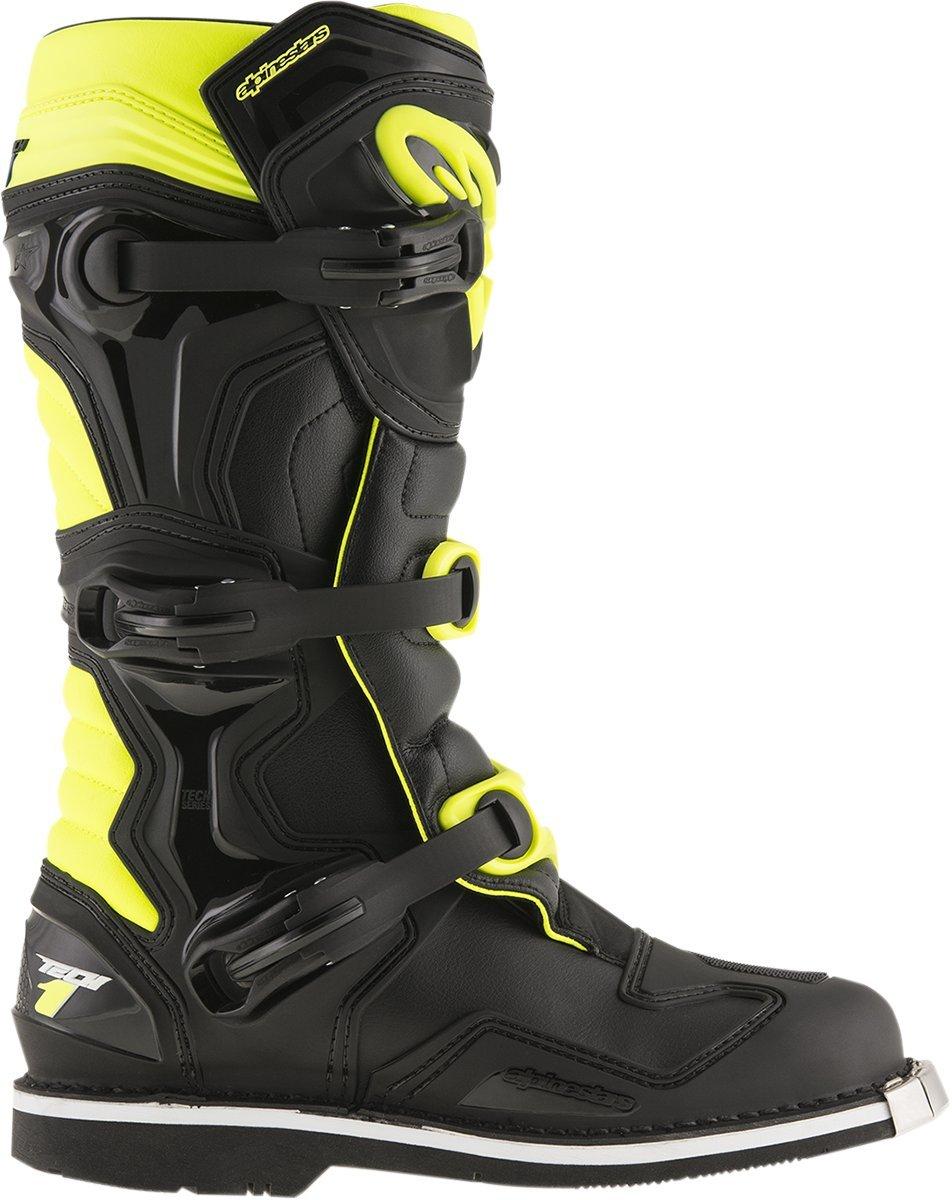 Alpinestars Mens Tech 1 Boot (Black/Yellow, 15) by Alpinestars (Image #4)